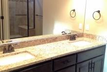 Master Bath-Dbl Vanity-Granite