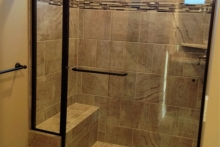 Master Bath-Shower-Tile floor-Window