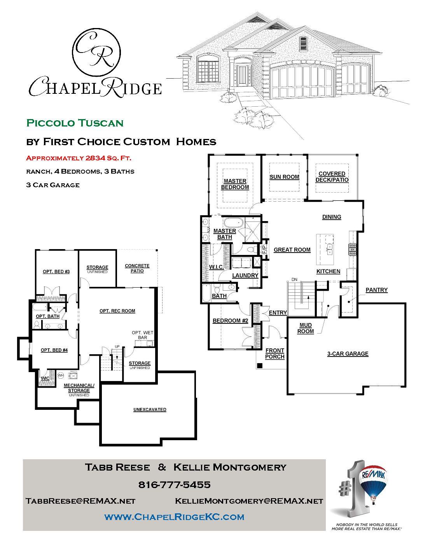 The Piccolo Tuscan First Choice Custom Homes Chapel